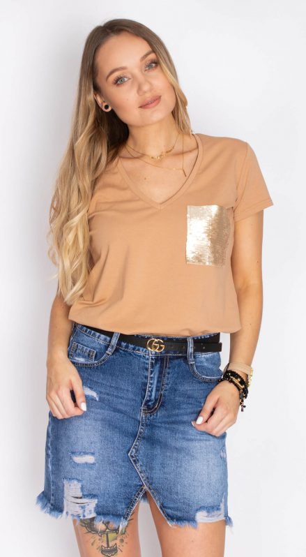 T-shirt Cindy camel
