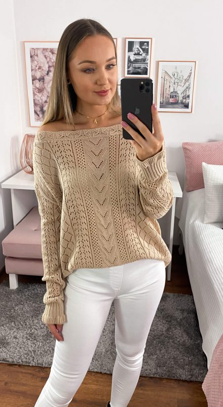 Sweter Veronica cappuccino